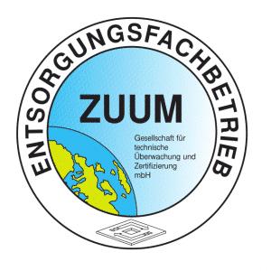 ZUUM Siegel zertifizierter Entsorgungs-Fachbetrieb